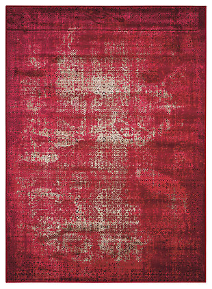 "Accessory Karma Red 3'9"" x 5'9"" Area Rug, Sangria, large"