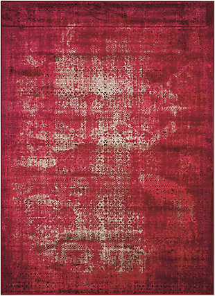 "Accessory Karma Red 3'9"" x 5'9"" Area Rug, Sangria, rollover"