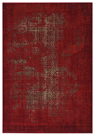 "Accessory Karma Red 6'7"" x 9'6"" Area Rug, Sangria, large"