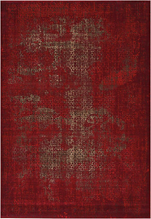 "Accessory Karma Red 6'7"" x 9'6"" Area Rug, Sangria, rollover"