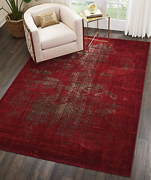"Accessory Karma Red 6'7"" x 9'6"" Area Rug, Sangria, large"