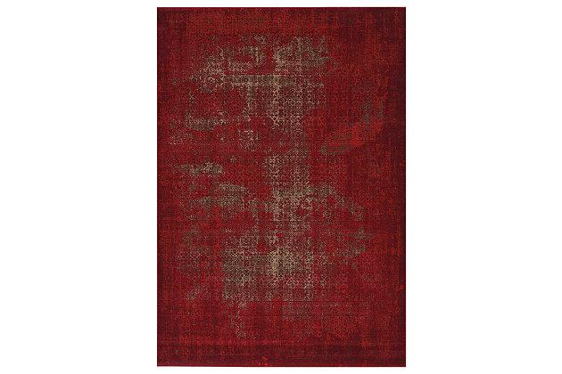 "Accessory Karma Red 7'10"" x 10'6"" Area Rug, Sangria, large"