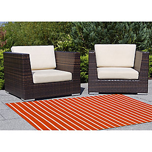 "Home Accents 7'6"" x 9'6"" Indoor/Outdoor Rug, Orange, large"
