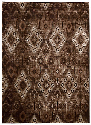 "Accessory Karma Chocolate 3'9"" x 5'9"" Area Rug, Chocolate, rollover"