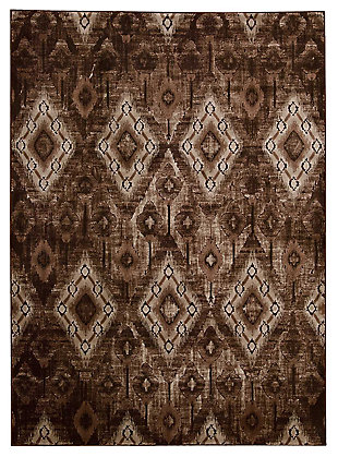 "Accessory Karma Chocolate 7'10"" x 10'6"" Area Rug, Chocolate, large"