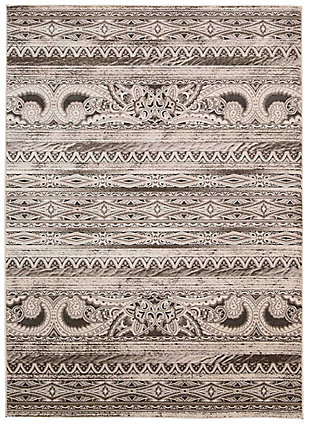 "Accessory Karma Beige 7'10"" x 10'6"" Area Rug, Beige, rollover"
