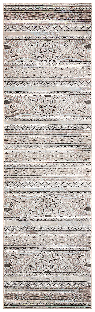 "Accessory Karma Stone 2'2"" x 7'6"" Runner, Stone, large"