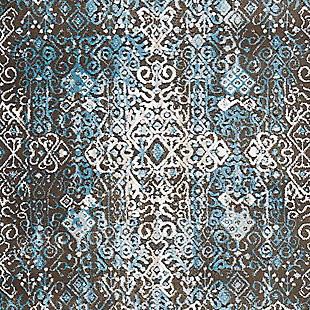 "Accessory Karma Blue 5'3"" x 7'4"" Area Rug, Charcoal, large"