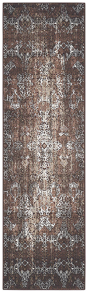 "Accessory Karma Mocha 2'2"" x 7'6"" Runner, Mocha, large"
