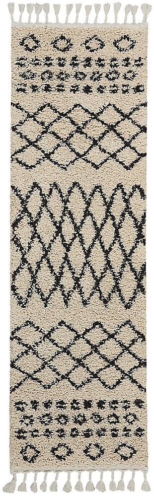 "Accessory Moroccan shag Cream 2'2"" x 8'1"" Runner, Natural, rollover"