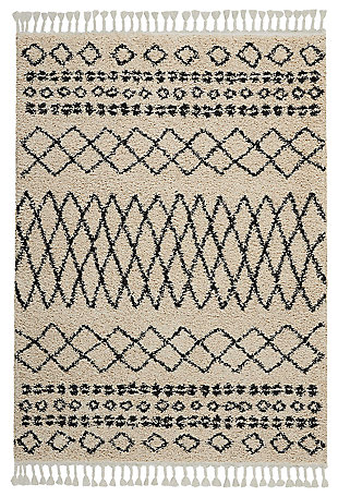"Accessory Moroccan shag Cream 5'3"" x 7'11"" Area Rug, Natural, large"