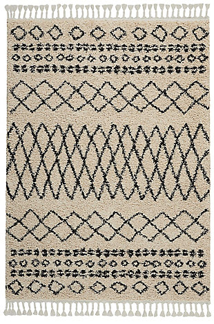 "Accessory Moroccan shag Cream 5'3"" x 7'11"" Area Rug, Natural, rollover"