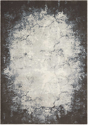 "Accessory Maxell Iv/Grey 5'3"" x 7'3"" Area Rug, Charcoal/Ivory, rollover"