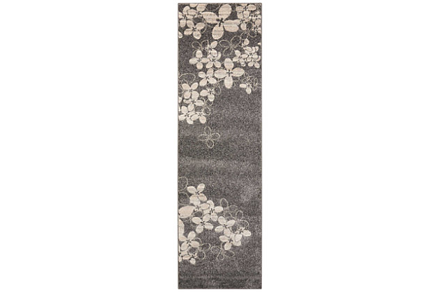 "Accessory Maxell Charcoal 2'2"" x 7'6"" Runner, Charcoal, large"