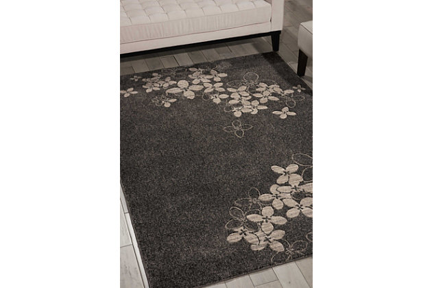 """Accessory Maxell Charcoal 3'10"""" x 5'10"""" Area Rug, Charcoal, large"""