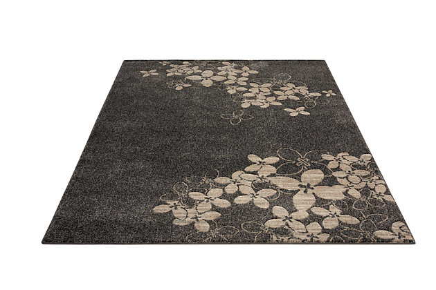 """Accessory Maxell Charcoal 5'3"""" X 7'3"""" Area Rug, Charcoal, large"""