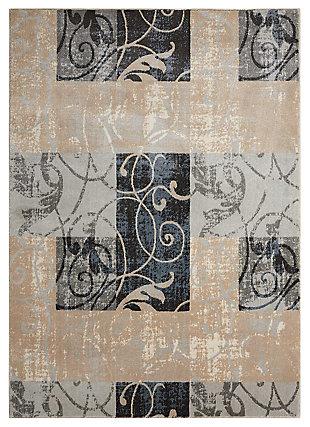 "Accessory Maxell Multicolor 5'3"" X 7'3"" Area Rug, Gray, large"