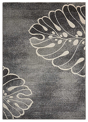 """Accessory Maxell Grey 3'10"""" x 5'10"""" Area Rug, Charcoal, large"""