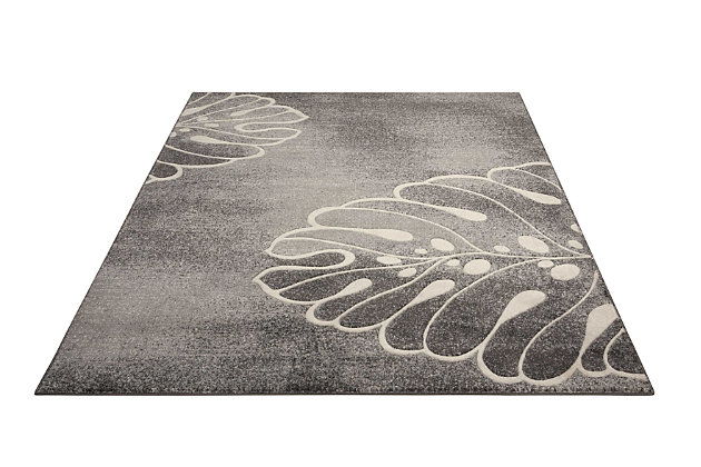 """Accessory Maxell Grey 5'3"""" x 7'3"""" Area Rug, Charcoal, large"""