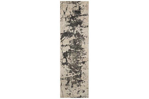 """Accessory Maxell Iv/Grey 2'2"""" x 7'6"""" Runner, Charcoal/Ivory, large"""
