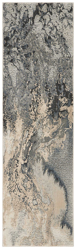 """Accessory Maxell Grey 2'2"""" x 7'6"""" Runner, Marble, large"""