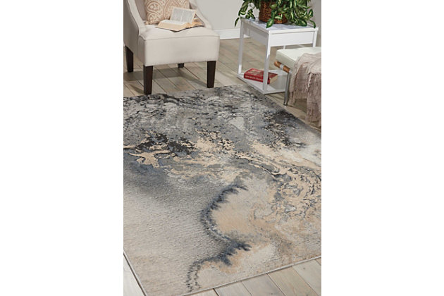 """Accessory Maxell Grey 7'10"""" x 10'6"""" Area Rug, Marble, large"""