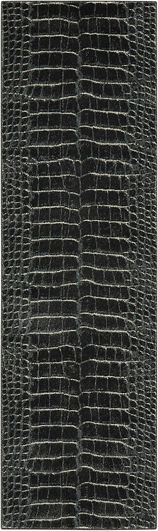 "Accessory Maxell Charcoal 2'2"" x 7'6"" Runner, Charcoal, rollover"