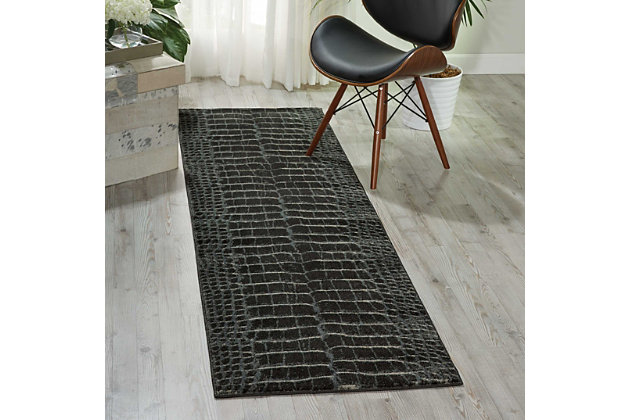 """Accessory Maxell Charcoal 2'2"""" x 7'6"""" Runner, Charcoal, large"""
