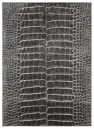 "Accessory Maxell Charcoal 5'3"" x 7'3"" Area Rug, Charcoal, large"