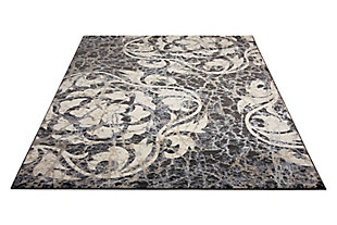 """Accessory Maxell Ivory/charcoal 5'3"""" x 7'3"""" Area Rug, Charcoal/Ivory, large"""