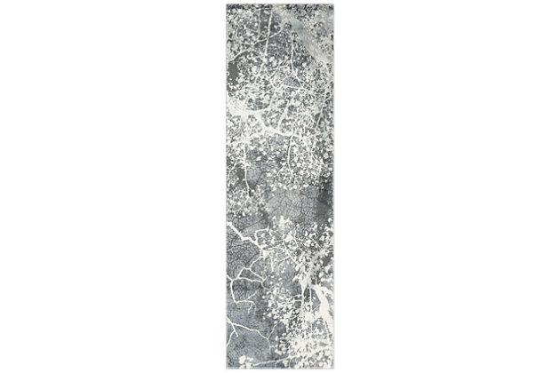 "Accessory Maxell Grey 2'2"" x 7'6"" Runner, Granite, large"