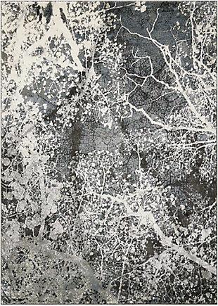 """Accessory Maxell Grey 3'10"""" x 5'10"""" Area Rug, Granite, rollover"""