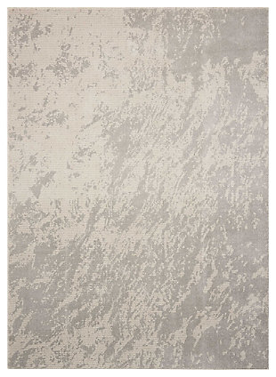 "Accessory Maxell Iv/Grey 3'10"" x 5'10"" Area Rug, Light Gray, large"