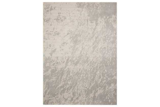 "Accessory Maxell Iv/Grey 5'3"" x 7'3"" Area Rug, Light Gray, large"