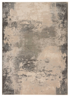 """Accessory Maxell Ivory/Gray 5'3"""" X 7'3"""" Area Rug, Charcoal/Ivory, large"""