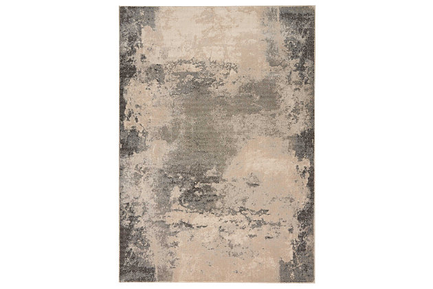 "Accessory Maxell Iv/Grey 5'3"" x 7'3"" Area Rug, Charcoal/Ivory, large"