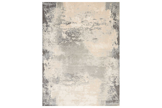 """Accessory Maxell Iv/Grey 7'10"""" x 10'6"""" Area Rug, Charcoal/Ivory, large"""