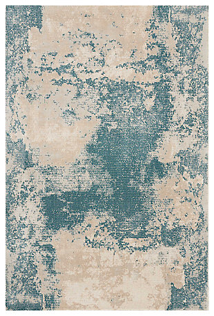"Accessory Maxell Ivory/Teal 3'10"" x 5'10"" Area Rug, Teal/Ivory, large"