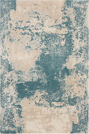 "Accessory Maxell Ivory/Teal 3'10"" x 5'10"" Area Rug, Teal/Ivory, rollover"