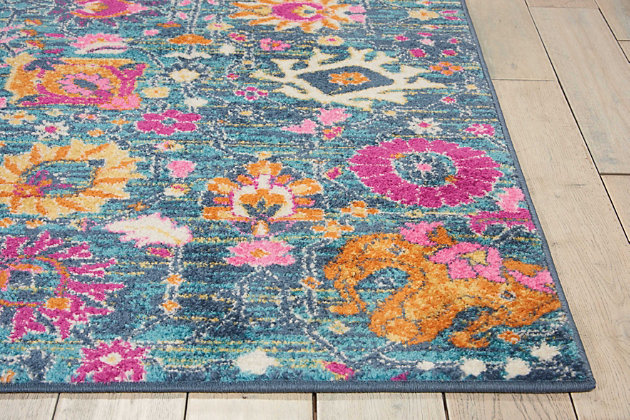 "Accessory Passion Denim 5'3"" x 7'3"" Area Rug, Teal, large"