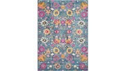 """Accessory Passion Denim 5'3"""" x 7'3"""" Area Rug, Teal, rollover"""