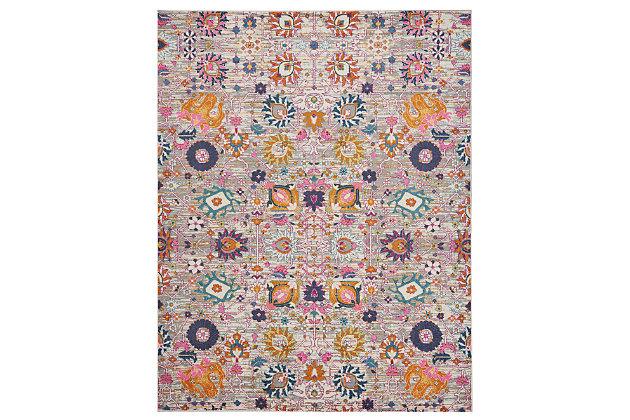 "Accessory Passion Silver 6'7"" x 9'6"" Area Rug, Blush Pink, large"