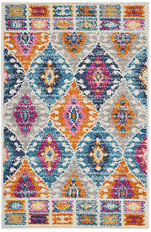 "Accessory Passion Multicolor 1'10"" x 2'10"" Accent Rug, Teal, rollover"