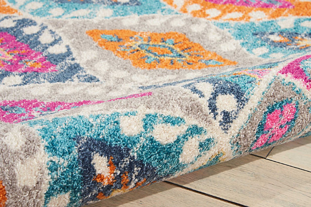 """Accessory Passion Multicolor 3'9"""" x 5'9"""" Area Rug, Teal, large"""