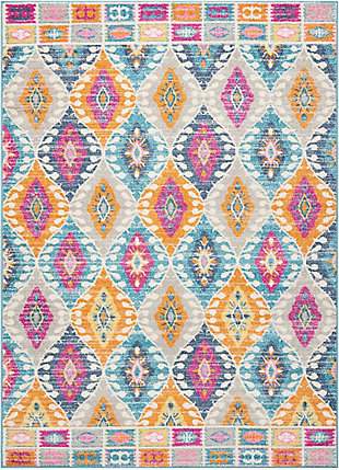 "Accessory Passion Multicolor 5'3"" x 7'3"" Area Rug, Teal, rollover"