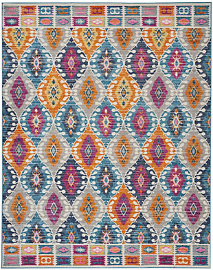 "Accessory Passion Multicolor 6'7"" x 9'6"" Area Rug, Teal, rollover"
