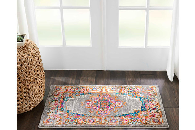 """Accessory Passion Grey 1'10"""" x 2'10"""" Accent Rug, Ash/Blush, large"""