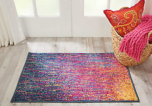 "Accessory Passion Multicolor 1'10"" x 2'10"" Accent Rug, Sunburst, large"