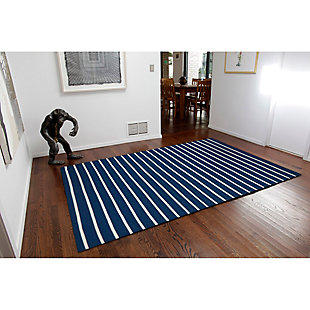 "Home Accents 5' x 7'6"" Indoor/Outdoor Rug, Blue, large"