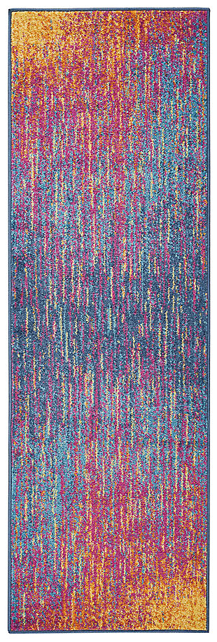 "Accessory Passion Multicolor 1'10"" x 6'Runner, Sunburst, large"
